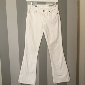 Citizens of Humanity White Flare Jeans Size 28